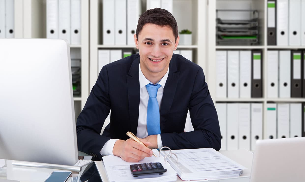Accounting professional in office