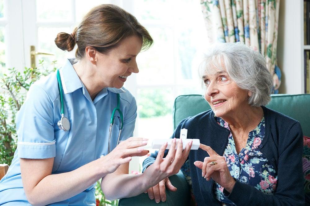 PSW helping elderly