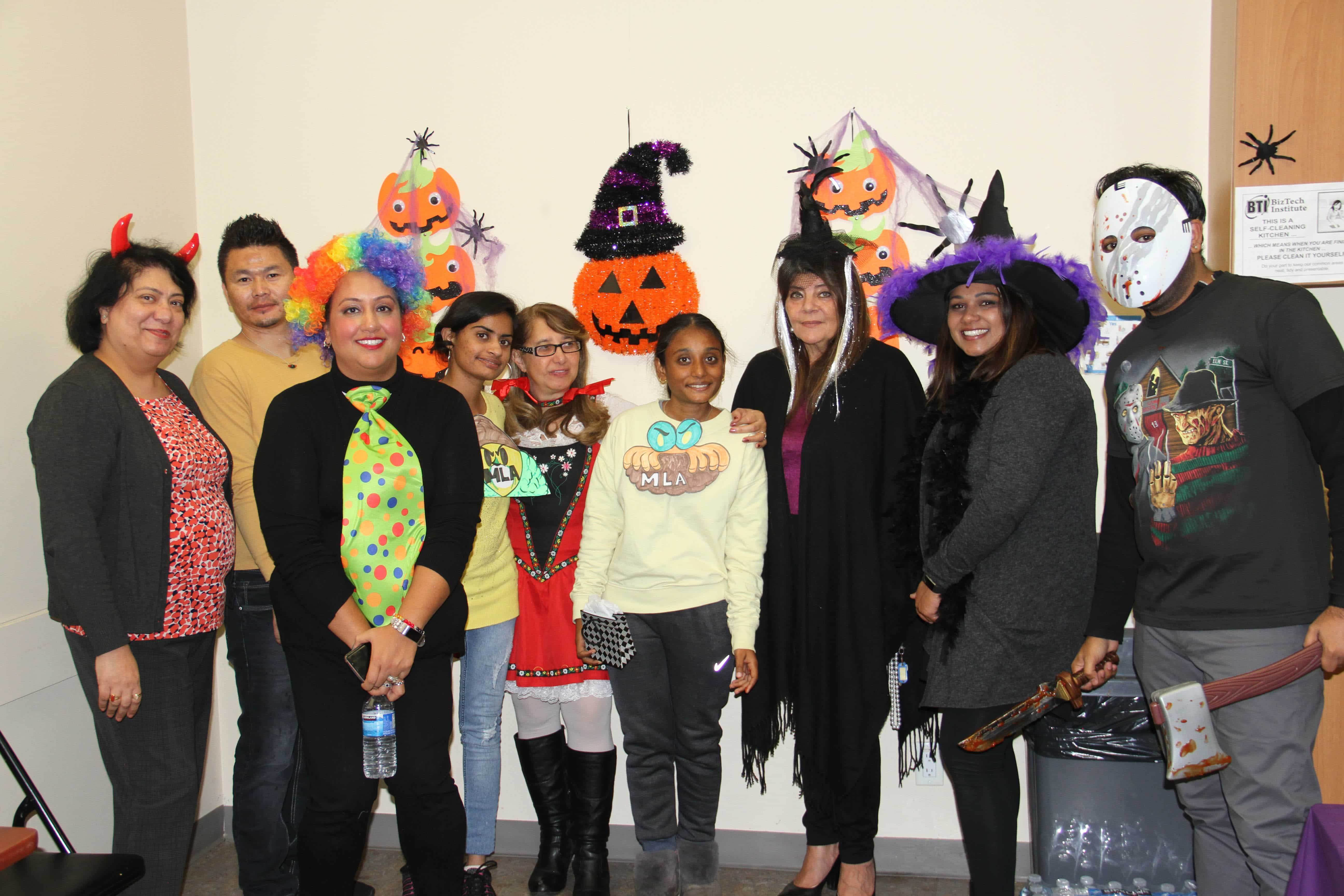 Halloween party at college